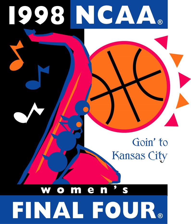 NCAA Womens Final Four Logo Primary Logo (1998) - 1998 NCAA Women's Final Four - held in Kansas City, Missouri. - NC State, Louisiana Tech, Tennessee, Arkansas   SportsLogos.Net