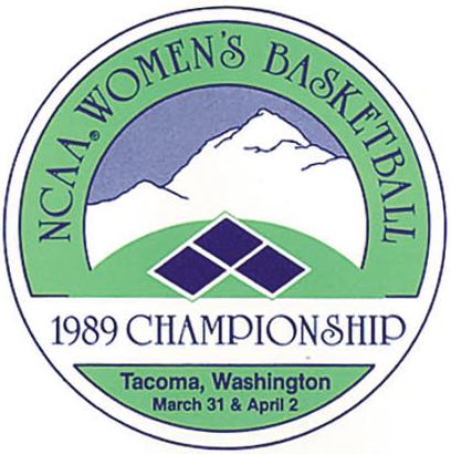 NCAA Womens Final Four Logo Primary Logo (1989) - 1989 NCAA Women's Final Four - held in Tacoma, Washington. - Auburn, Louisiana Tech, Tennessee, Maryland SportsLogos.Net