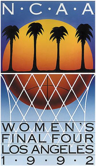 NCAA Womens Final Four Logo Primary Logo (1992) - 1992 NCAA Women's Final Four - held in Los Angeles, California. - Virginia, Stanford, SW Missouri State, Western Kentucky  SportsLogos.Net