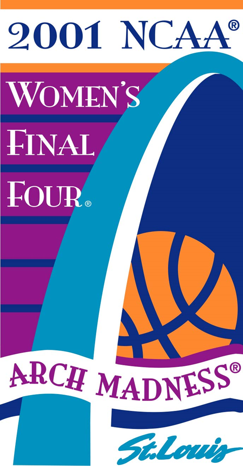 NCAA Womens Final Four Logo Primary Logo (2001) - 2001 NCAA Women's Final Four - held in St. Louis, Missouri. - Purdue, SW Missouri State, Notre Dame, Connecticut   SportsLogos.Net