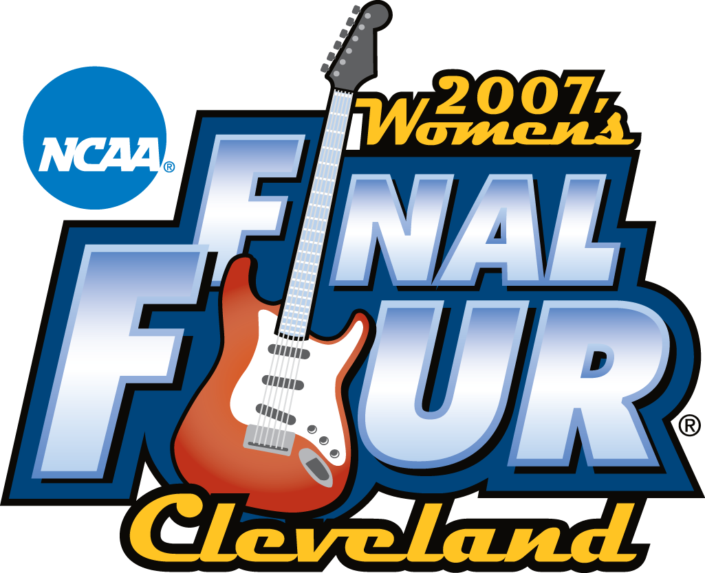 NCAA  Womens Final Four Logo Primary Logo (2007) - 2007 NCAA Women's Final Four - held in Cleveland, Ohio. - North Carolina, Tennessee, LSU, Rutgers SportsLogos.Net