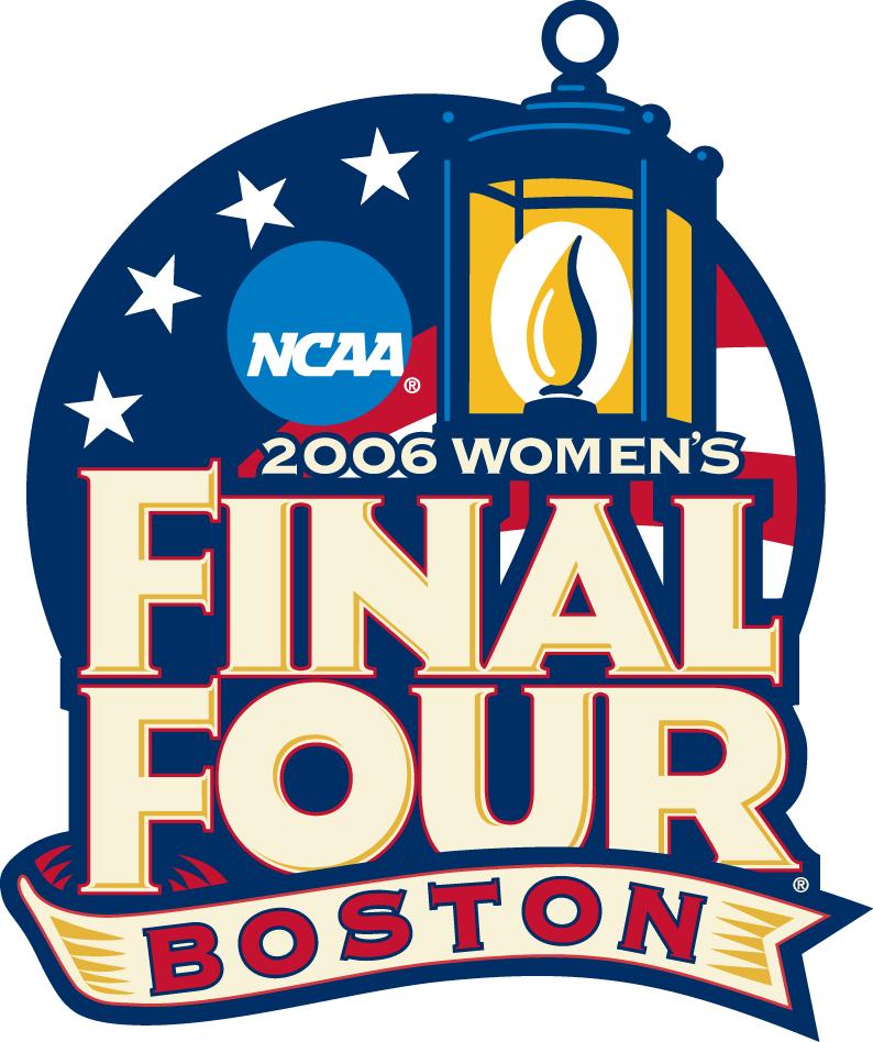 NCAA Womens Final Four Logo Primary Logo (2006) - 2006 NCAA Women's Final Four - held in Boston, Massachusetts. -  Maryland, North Carolina, Duke, LSU SportsLogos.Net