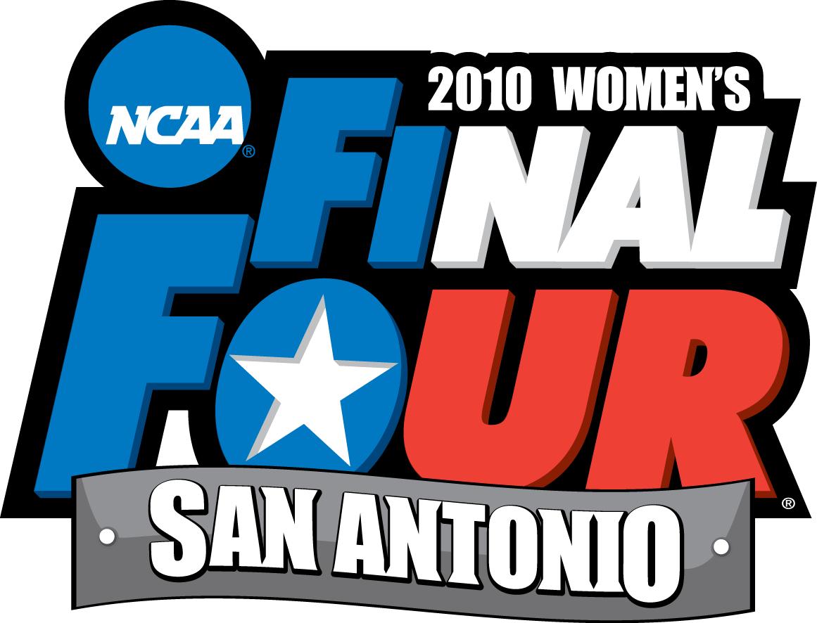 NCAA Womens Final Four Logo Primary Logo (2010) - 2010 NCAA Women's Final Four - held in San Antonio, Texas. - Connecticut, Baylor, Stanford, Oklahoma  SportsLogos.Net