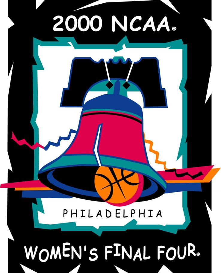 NCAA Womens Final Four Logo Primary Logo (2000) - 2000 NCAA Women's Final Four - held in Philadelphia, Pennsylvania. - Connecticut, Penn State, Tennessee, Rutgers  SportsLogos.Net