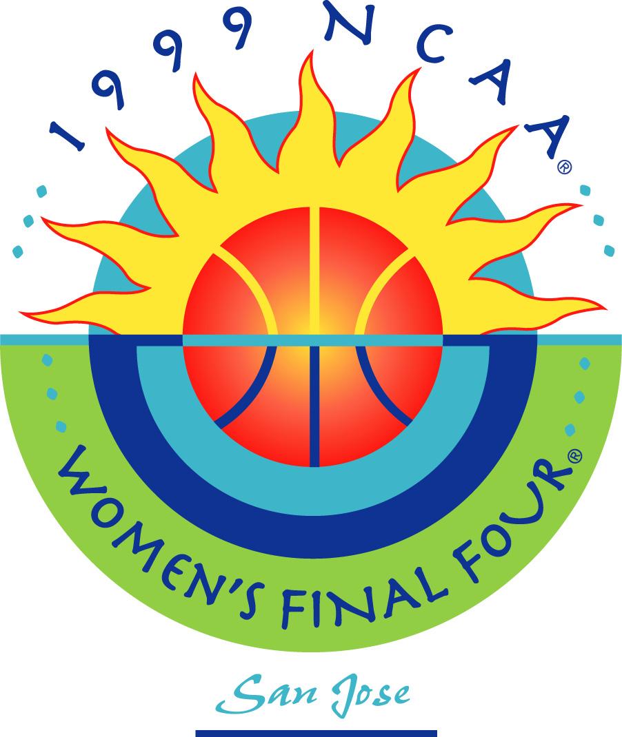 NCAA Womens Final Four Logo Primary Logo (1999) - 1999 NCAA Women's Final Four - held in San Jose, California. - Duke, Georgia, Purdue, Louisiana Tech SportsLogos.Net