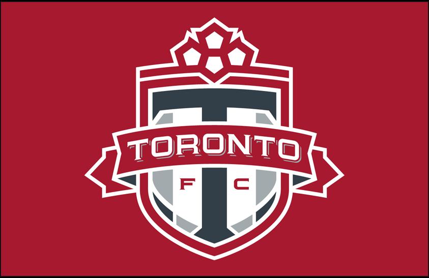 Toronto FC Logo Primary Dark Logo (2010-Pres) - Toronto FC primary logo on red SportsLogos.Net