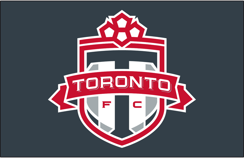 Toronto FC Logo Primary Dark Logo (2007-2009) - Toronto FC primary logo on grey SportsLogos.Net