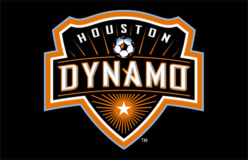 Houston Dynamo Logo Primary Dark Logo (2006-2020) - Houston Dynamo primary logo on black SportsLogos.Net