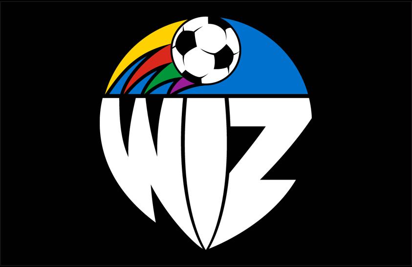 Kansas City Wiz Logo Primary Dark Logo (1996) - Kansas City Wiz primary logo on black SportsLogos.Net