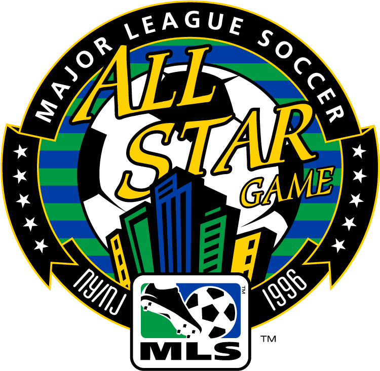 MLS All-Star Game Logo Primary Logo (1996) - 1996 MLS All-Star Game - at Giants Stadium in East Rutherford, New Jersey --------------------- MLS West 2 VS MLS East 3 SportsLogos.Net