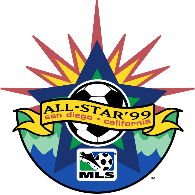 MLS All-Star Game Logo Primary Logo (1999) - 1999 MLS All-Star Game - Qualcomm Stadium in San Diego, California ------------------------------- MLS West 6 VS MLS East 4 SportsLogos.Net