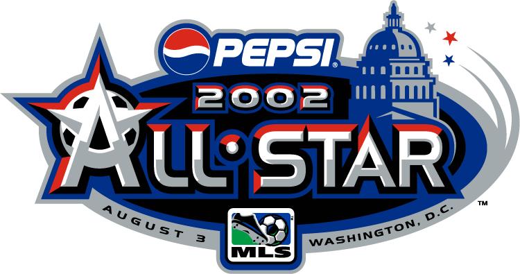 MLS All-Star Game Logo Primary Logo (2002) - 2002 MLS All-Star Game - at RFK Stadium in Washington DC ------------------------------ MLS All-Stars 3 VS Team USA 2 SportsLogos.Net