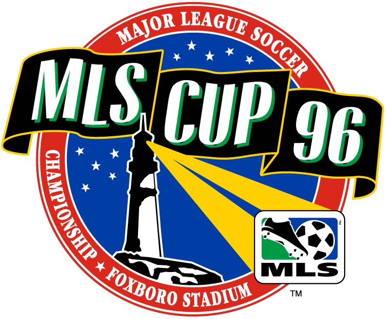 MLS Cup Logo Primary Logo (1996) - DC United 3 LA Galaxy 2 @ Foxboro, MA SportsLogos.Net
