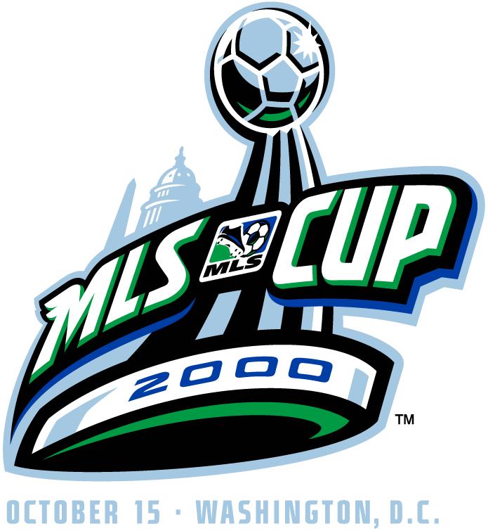 MLS Cup Logo Primary Logo (2000) - Kansas City Wizards 1 Chicago Fire 0 @ Washington, DC SportsLogos.Net