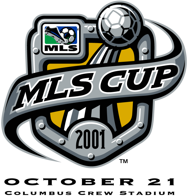 MLS Cup Logo Primary Logo (2001) - San Jose Earthquakes 2 LA Galaxy 1 @ Columbus, OH SportsLogos.Net