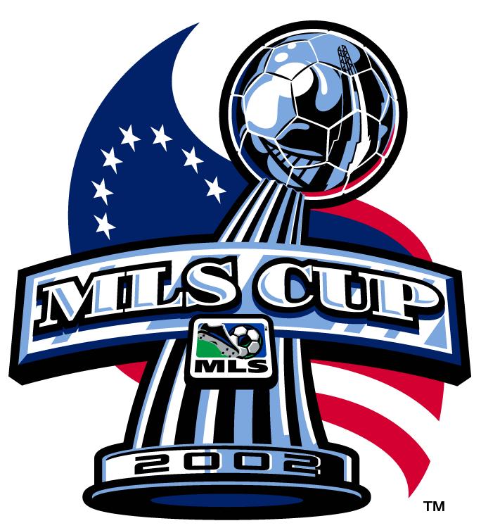 MLS Cup Logo Primary Logo (2002) - LA Galaxy 1 New England Revolution 0 @ Foxboro, MA SportsLogos.Net