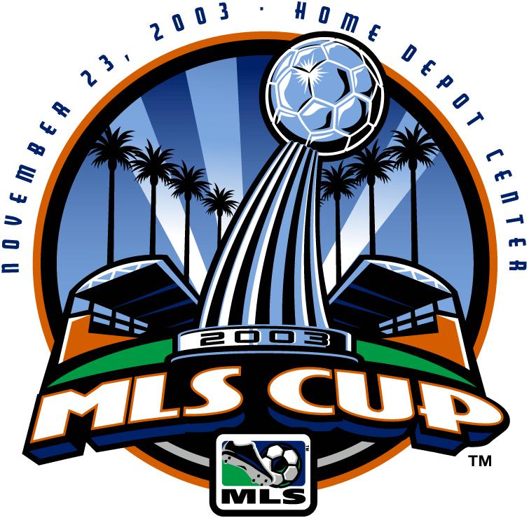 MLS Cup Logo Primary Logo (2003) - San Jose Earthquakes 4 Chicago Fire 2 @ Carson, CA SportsLogos.Net