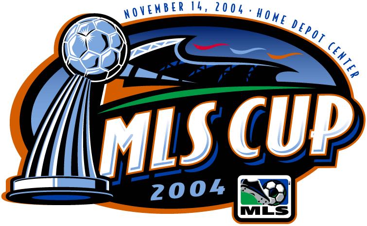 MLS Cup Logo Primary Logo (2004) - DC United 3 Kansas City Wizards 2 @ Carson, CA SportsLogos.Net