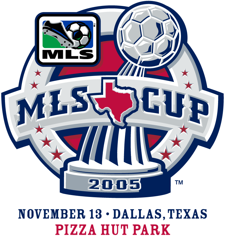 MLS Cup Logo Primary Logo (2005) - LA Galaxy 1 New England Revolution 0 @ Frisco, TX SportsLogos.Net