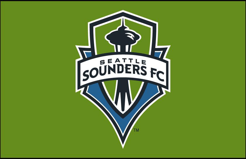 Seattle Sounders FC Logo Primary Dark Logo (2009-Pres) - Seattle Sounders FC primary logo on green SportsLogos.Net