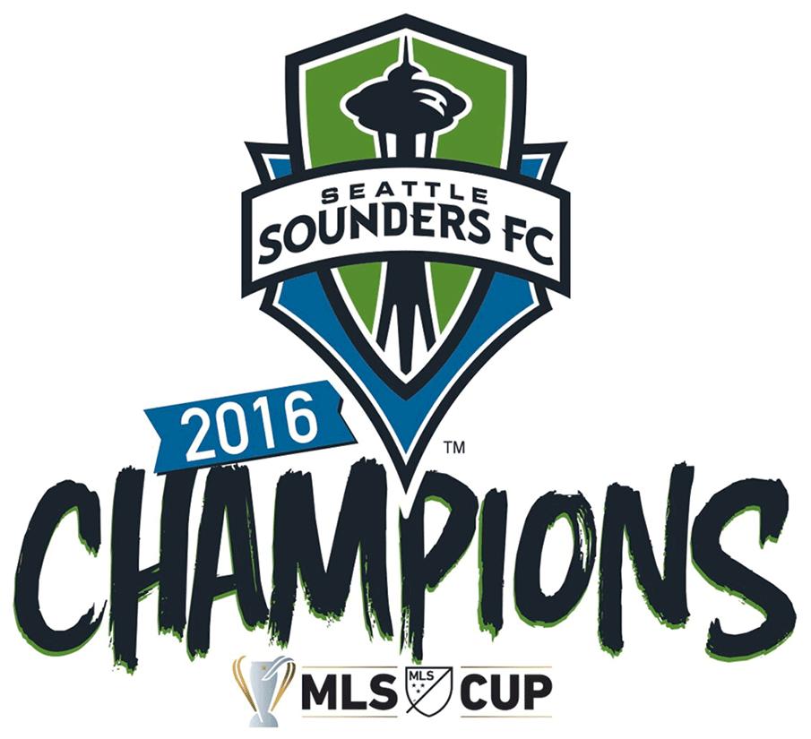Seattle Sounders FC Logo Champion Logo (2016) - Seattle Sounders 2016 MLS Cup Champions Logo SportsLogos.Net
