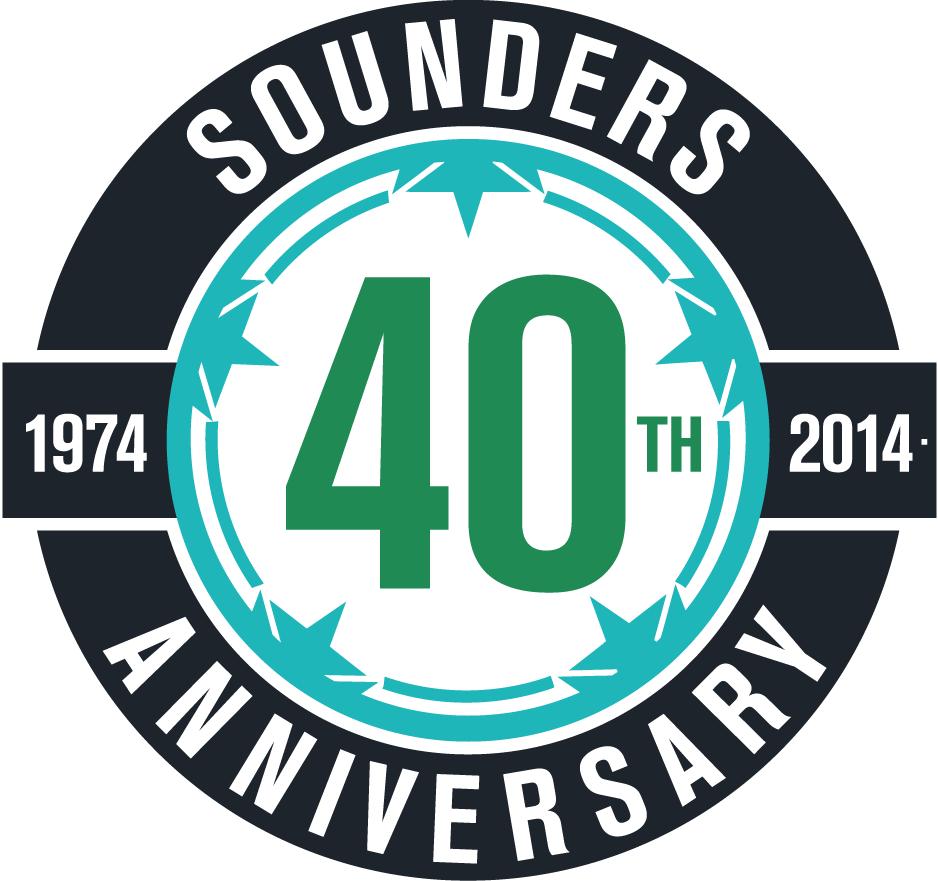 Seattle Sounders FC Logo Anniversary Logo (2014) - 40th Anniversary logo SportsLogos.Net