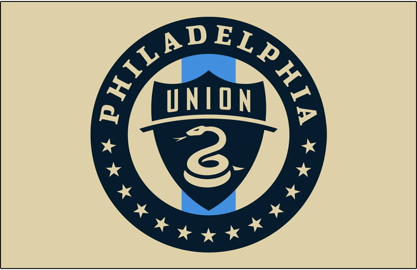 Philadelphia Union Logo Primary Dark Logo (2018-Pres) - Philadelphia Union primary logo on gold SportsLogos.Net