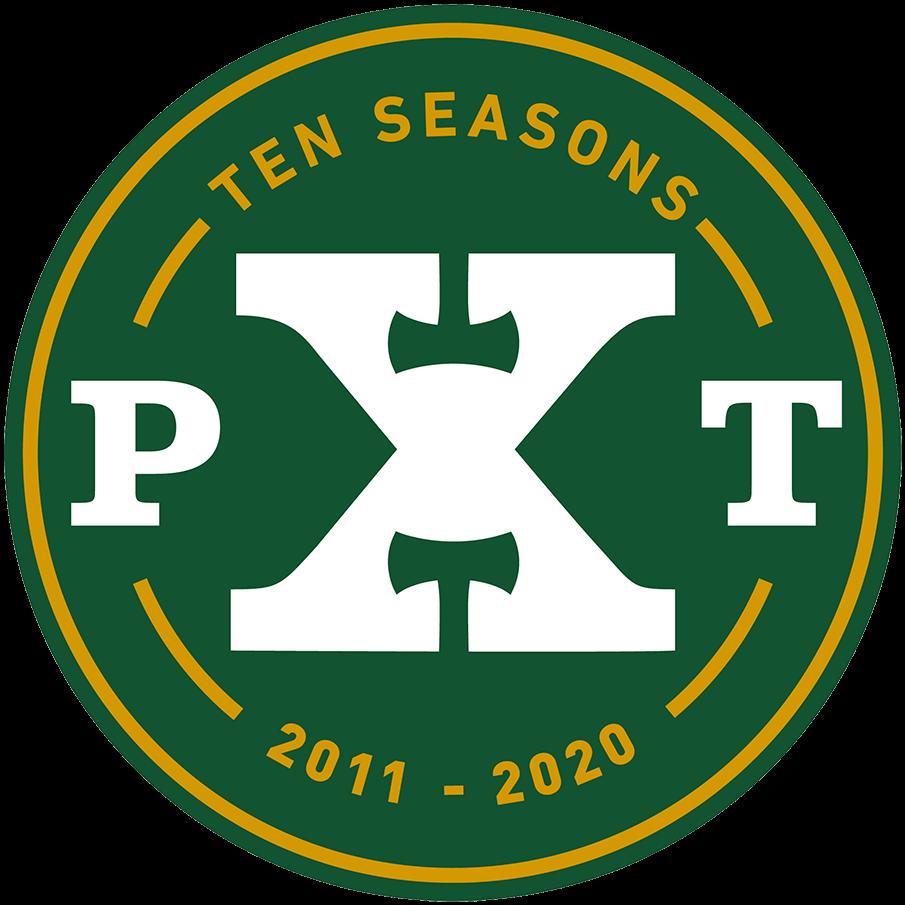 Portland Timbers Logo Anniversary Logo (2020) - Portland Timbers 10th MLS season logo SportsLogos.Net