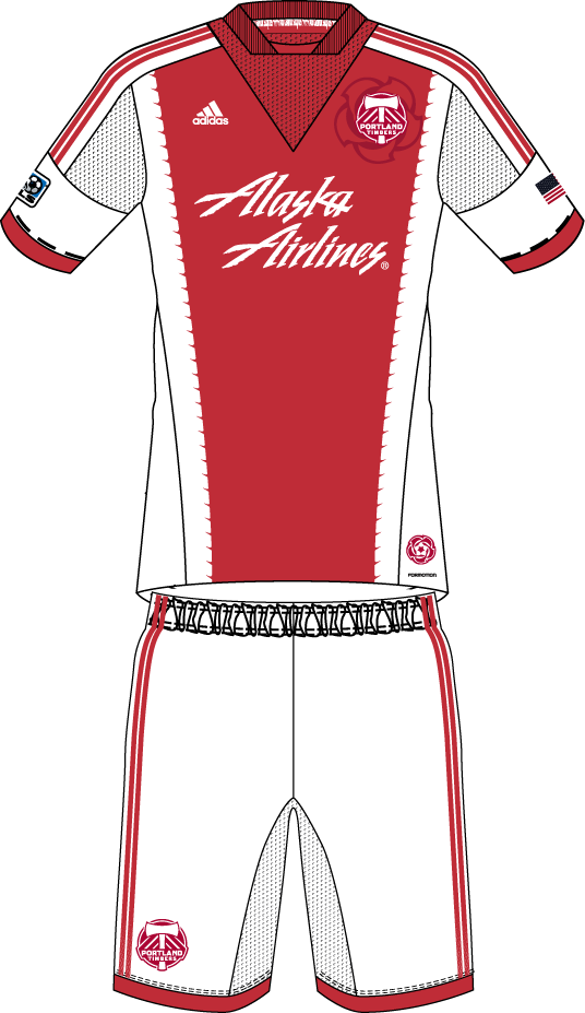 Portland Timbers Uniform Road Uniform (2013) -  SportsLogos.Net