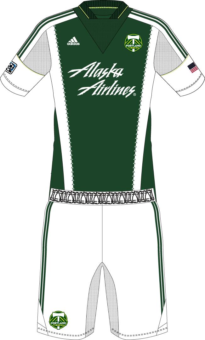 Portland Timbers Uniform Home Uniform (2013-Pres) -  SportsLogos.Net