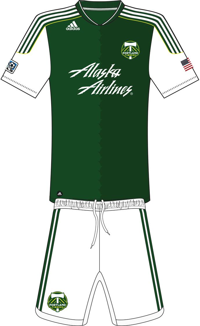 Portland  Timbers Uniform Home Uniform (2011-2012) -  SportsLogos.Net
