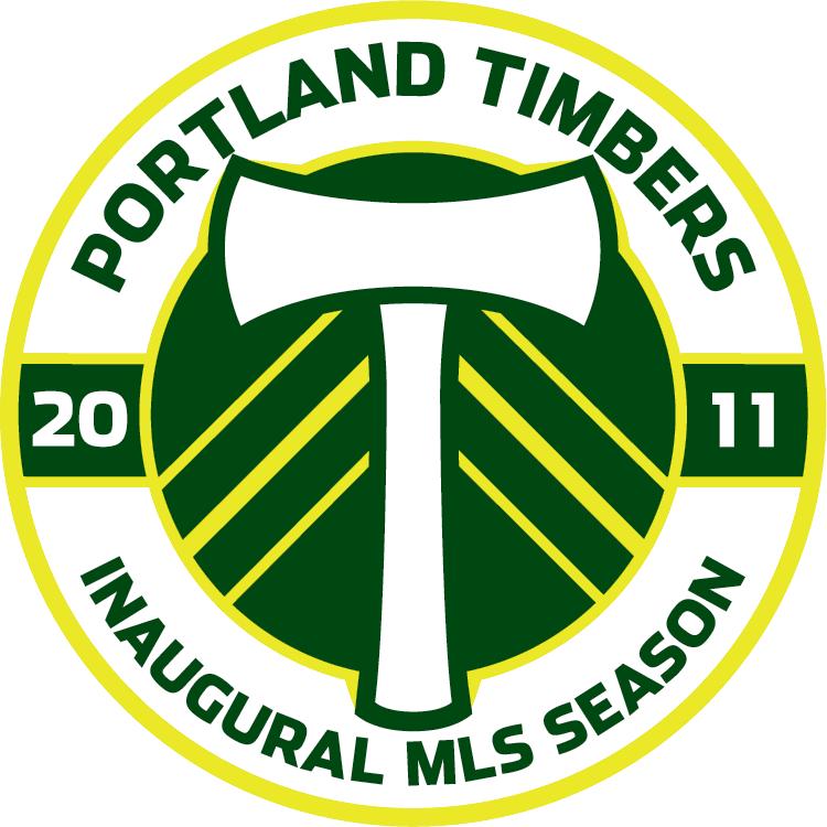 Portland  Timbers Logo Anniversary Logo (2011) - Portland Timbers Inaugural Season logo SportsLogos.Net