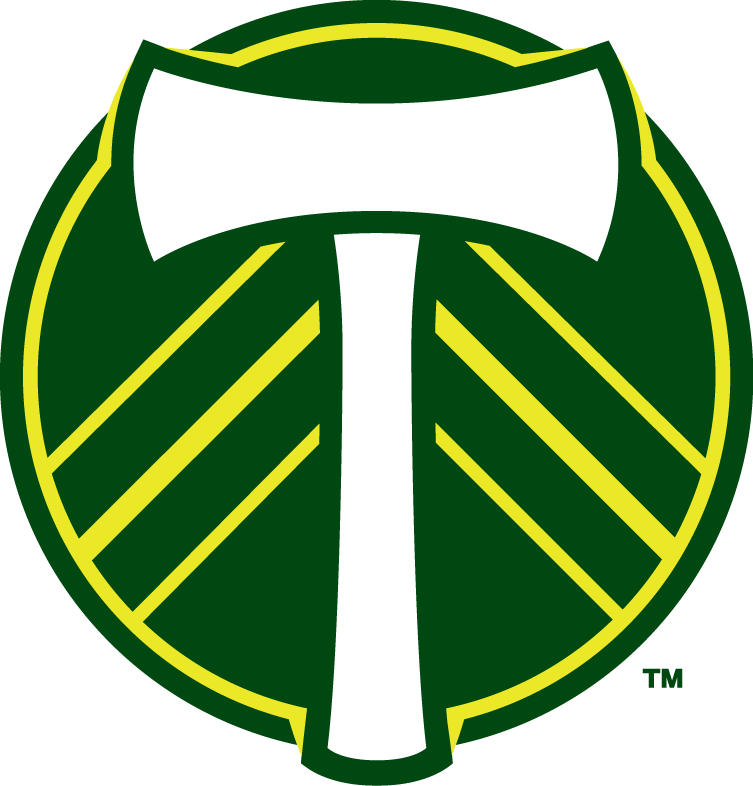 Portland  Timbers Logo Secondary Logo (2011-2014) - After some harsh disapproval of the newly unvieled logos by the Portland timbers fans base, the Timbers organization changed the logos to tone down the