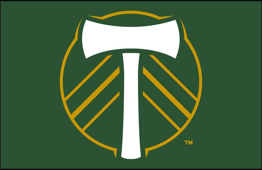 Portland  Timbers Logo Primary Dark Logo (2019-Pres) - Portland Timbers primary logo on green SportsLogos.Net