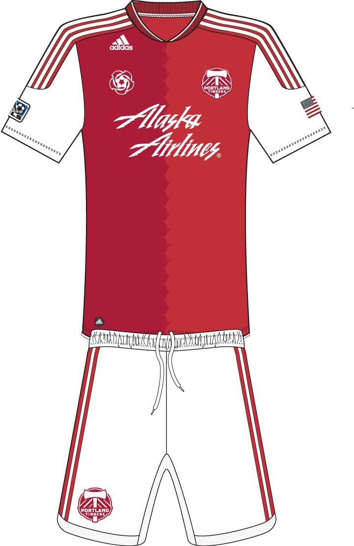 Portland  Timbers Uniform Road Uniform (2011-2012) -  SportsLogos.Net