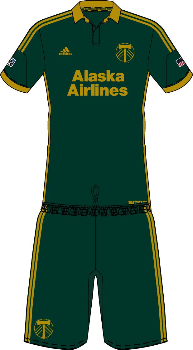 Portland  Timbers Uniform Alternate Uniform (2014-Pres) -  SportsLogos.Net