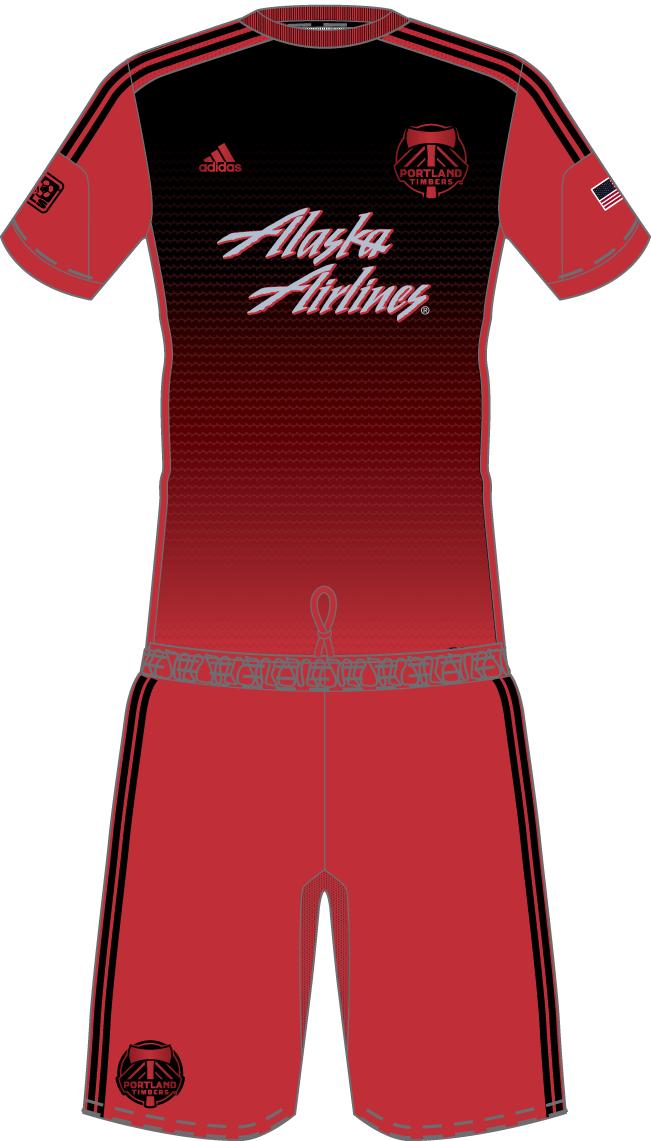 Portland  Timbers Uniform Road Uniform (2014-Pres) -  SportsLogos.Net