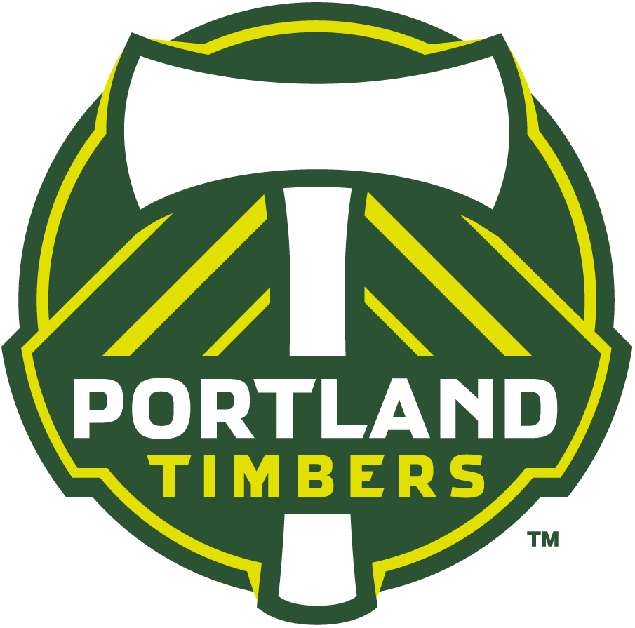 Portland Timbers Logo Primary Logo (2011-2015) - After some harsh disapproval of the newly unvieled logos by the Portland timbers fans base, the Timbers organization changed the logos to tone down the
