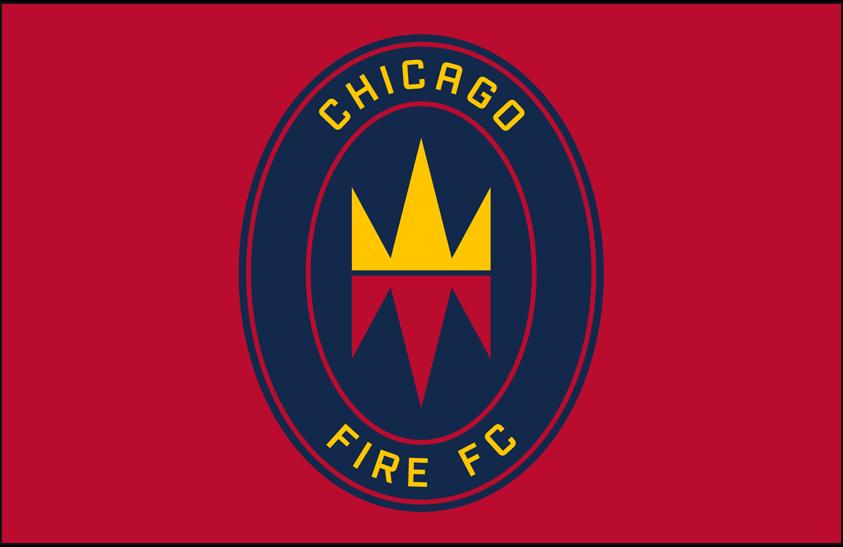 Chicago Fire Logo Primary Dark Logo (2020-Pres) - Chicago Fire FC primary logo on red SportsLogos.Net