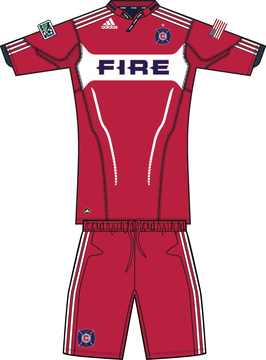 Chicago Fire Uniform Home Uniform (2011) -  SportsLogos.Net