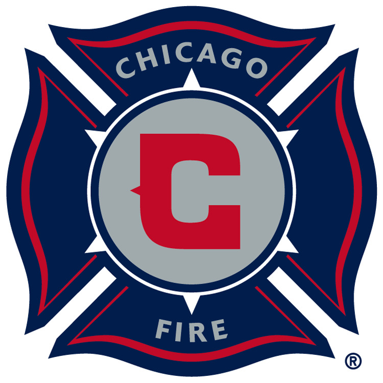 Chicago Fire Logo Primary Logo (2015-2019) - Red C inside silver circle in a navy blue fire department shield, shade of red darkened slightly for the 2015 season SportsLogos.Net