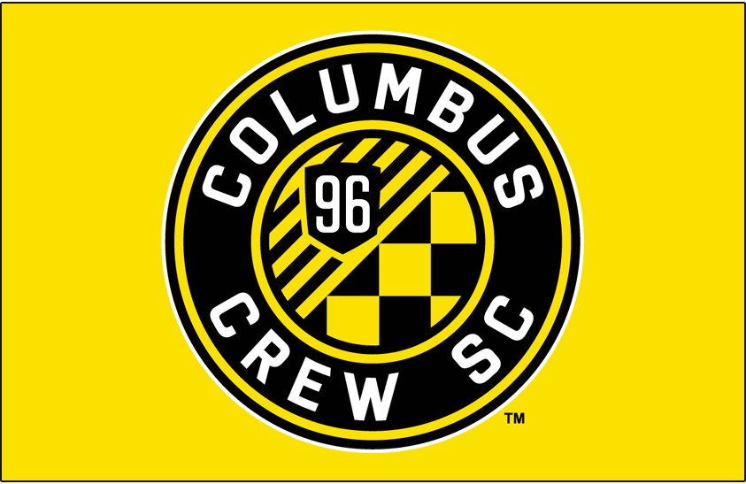 Columbus Crew SC Logo Primary Dark Logo (2015-Pres) - Columbus Crew SC logo on yellow SportsLogos.Net