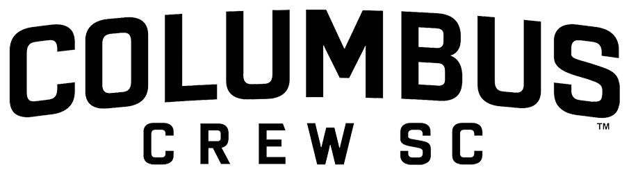 Columbus Crew SC Logo Wordmark Logo (2015-Pres) - Columbus arched over CREW SC in black SportsLogos.Net