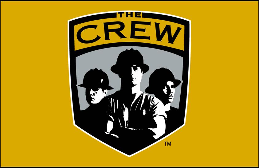 Columbus Crew SC Logo Primary Dark Logo (1996-2014) - Columbus Crew logo on gold SportsLogos.Net
