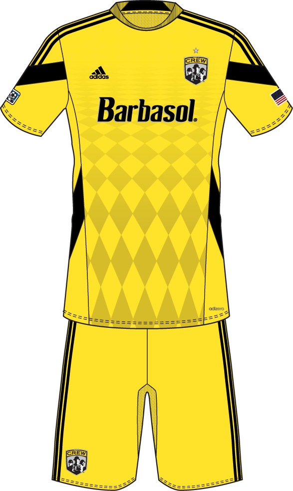 Columbus Crew SC Uniform Home Uniform (2014) -  SportsLogos.Net