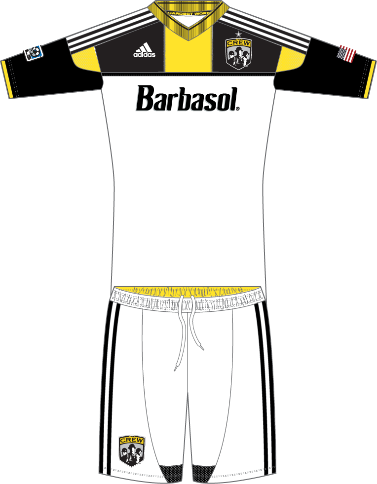 Columbus Crew SC Uniform Road Uniform (2013-2014) -  SportsLogos.Net