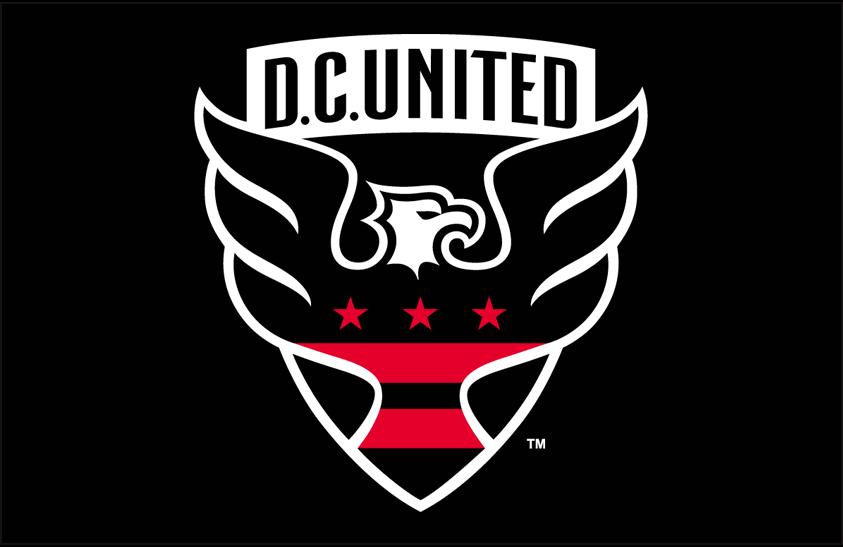 D.C. United Logo Primary Dark Logo (2016-Pres) - DC United primary logo on black SportsLogos.Net