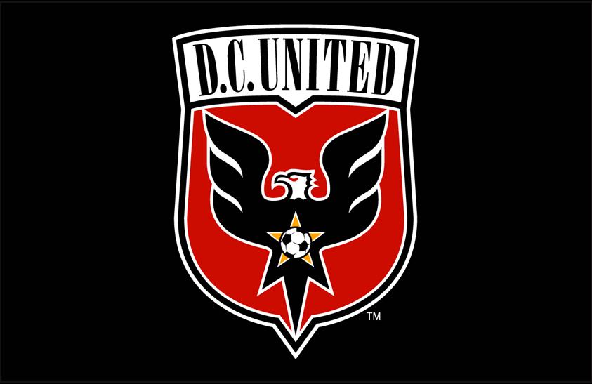 D.C. United Logo Primary Dark Logo (1998-2013) - DC United primary logo on black SportsLogos.Net