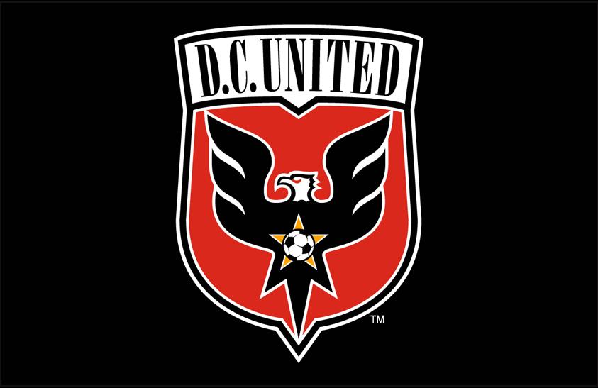 D.C. United Logo Primary Dark Logo (2014-2015) - DC United primary logo on black SportsLogos.Net