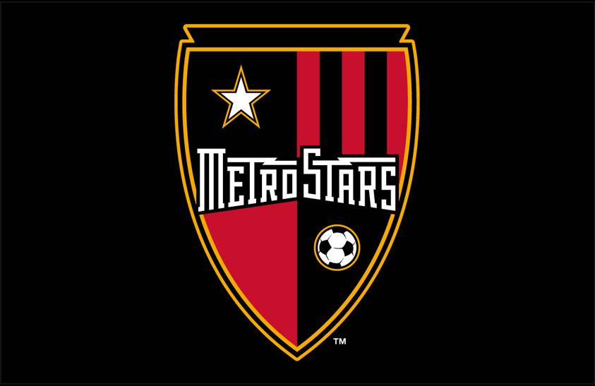 MetroStars  Logo Primary Dark Logo (2002-2005) - MetroStars primary logo on black SportsLogos.Net